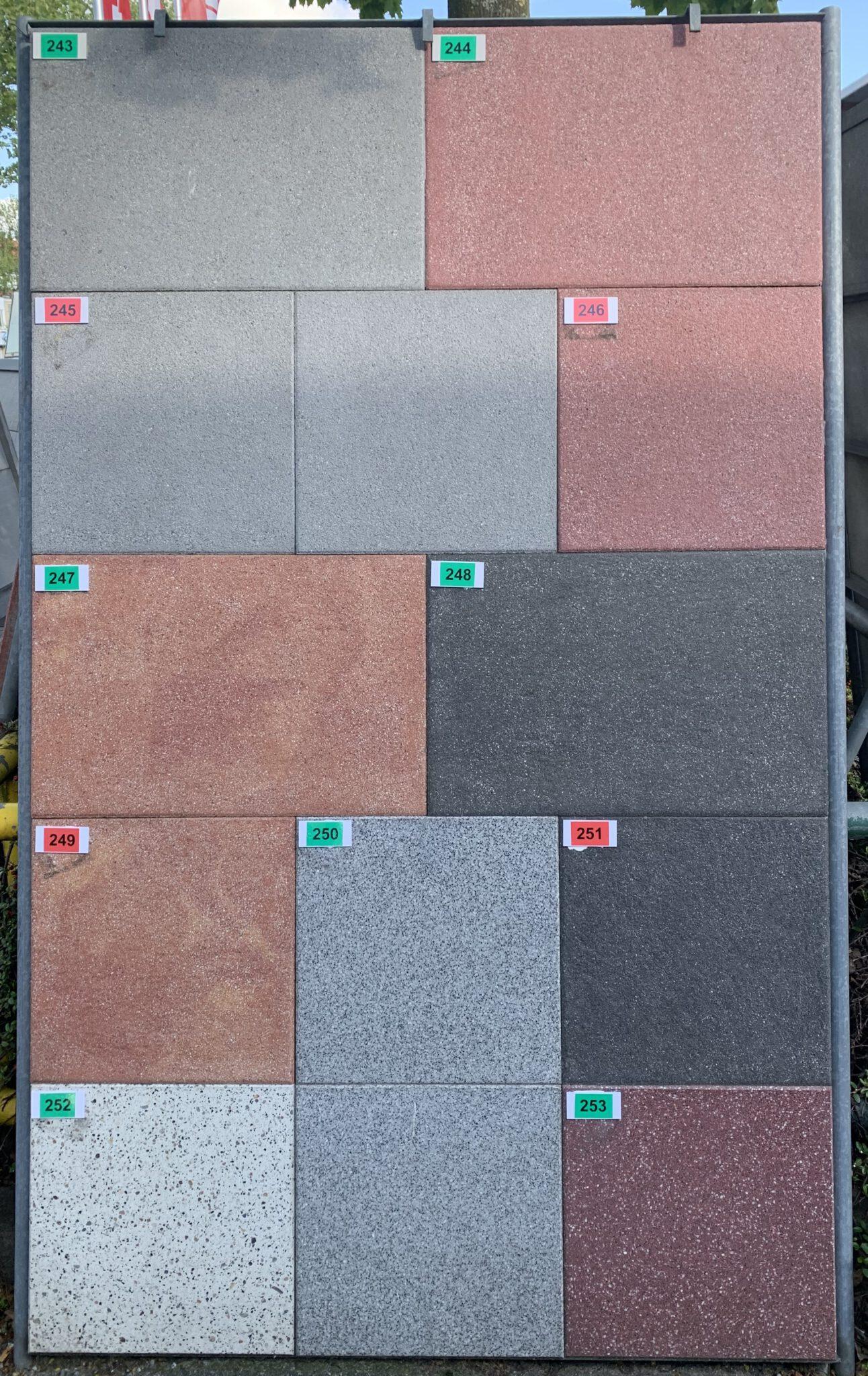 246 Granitplatten Novagranit rot OS3 von Bartels bei Stolzenbach Baustoffe in Bremen kaufen