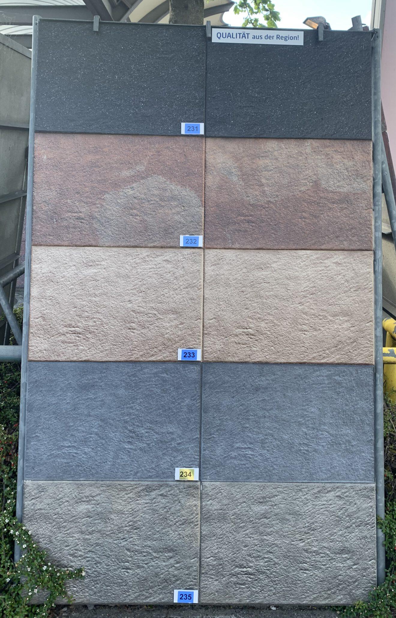 Gartenplatte Novagranit rot - schwarz von Bartels bei Stolzenbach Baustoffe in Bremen kaufen