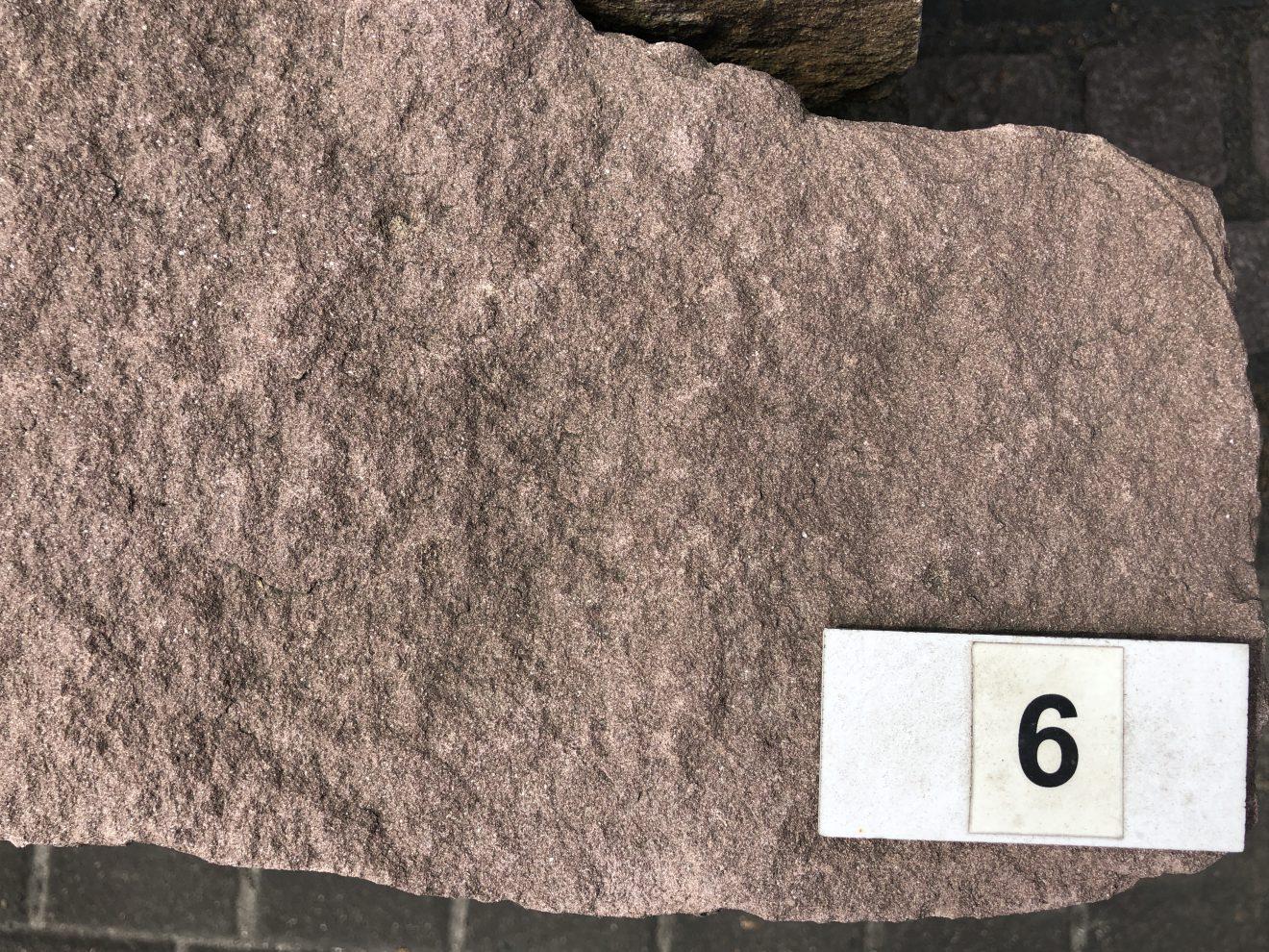 Trockenmauer Knacker Sandstein Rot