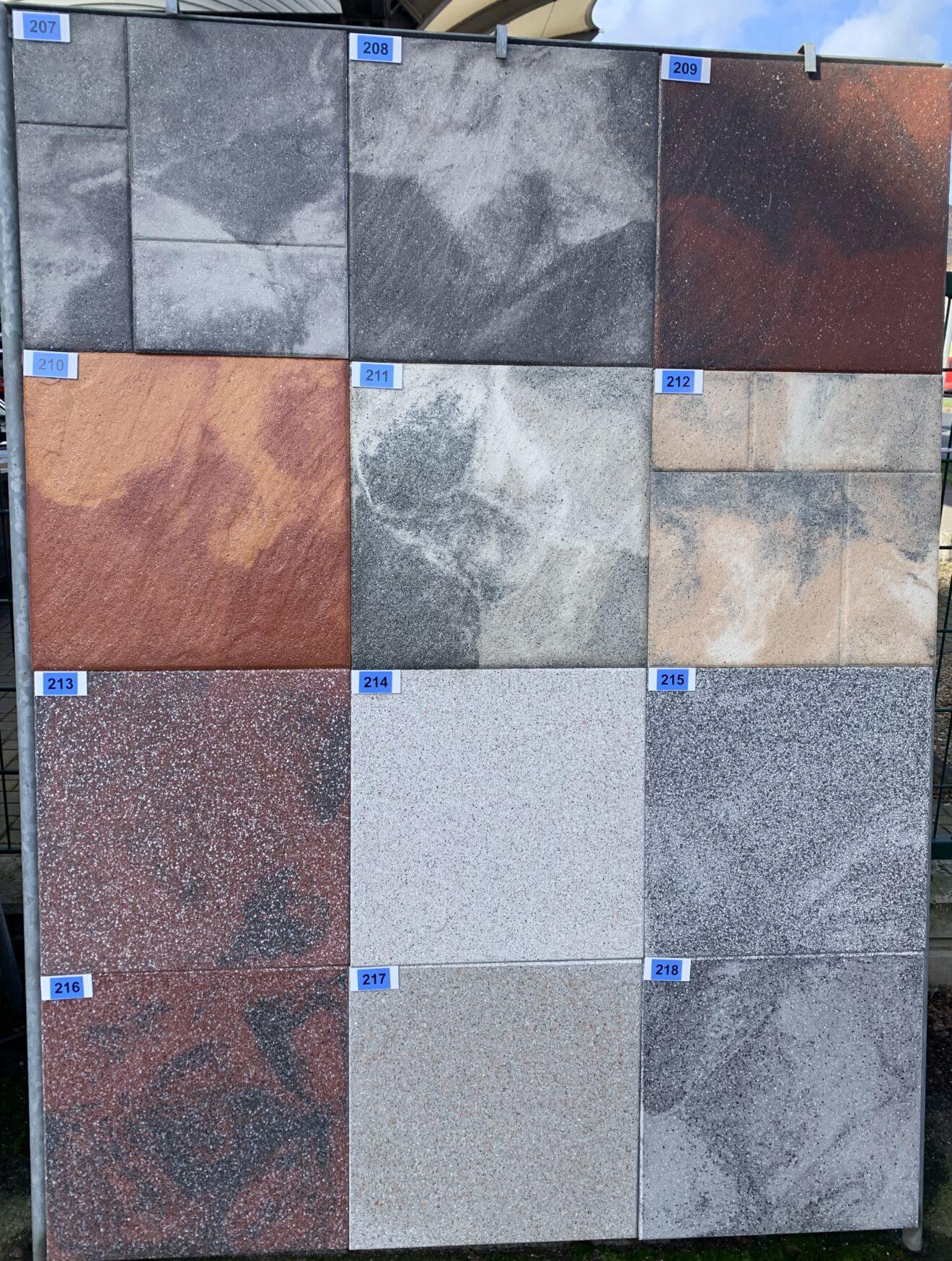 Terrassenplatte Novagranit rot/schwarz bei Stolzenbach Baustoffe in Bremen kaufen