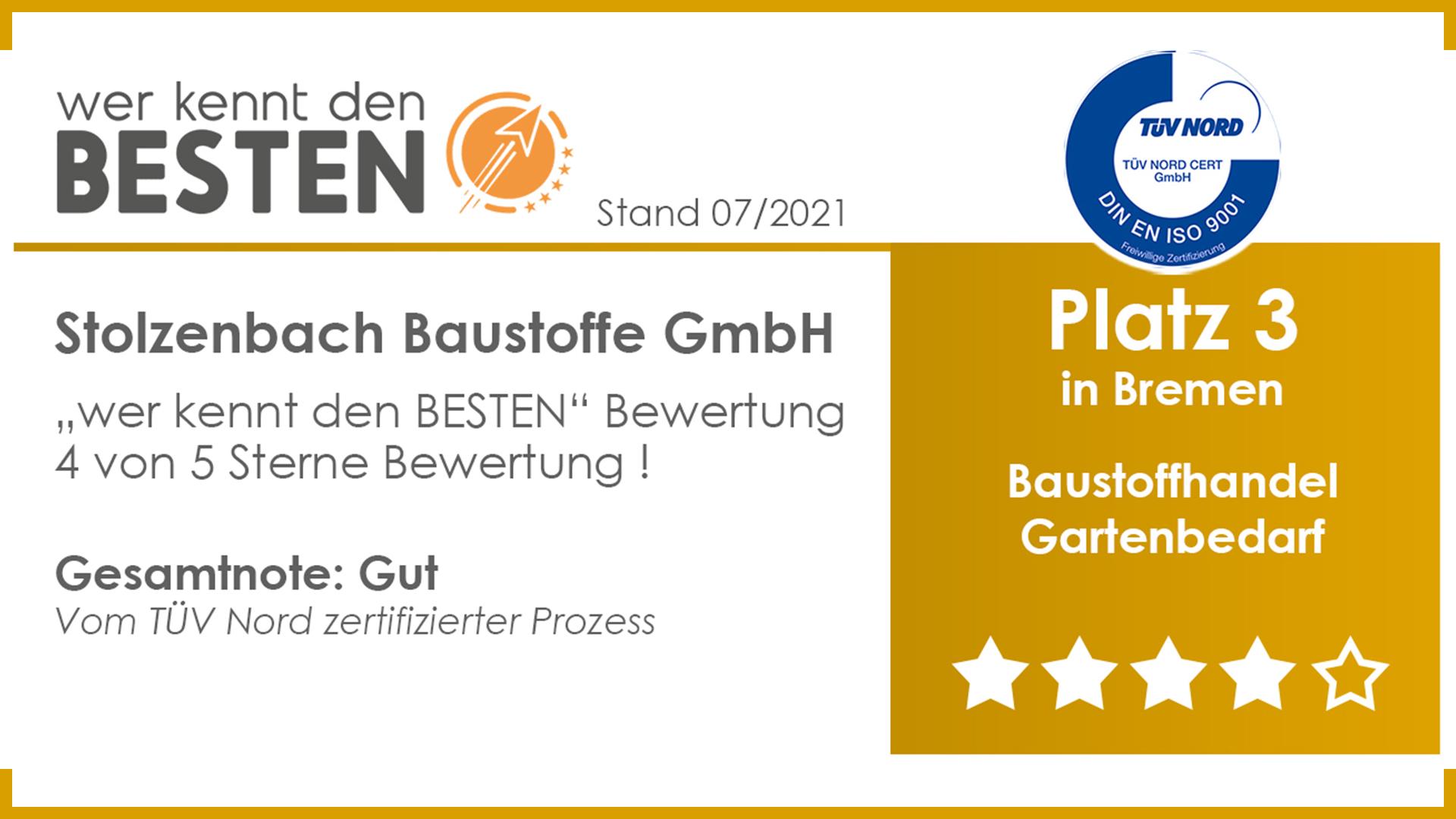 Top 3 Bewertung in Bremen Stolzenbach Baustoffe